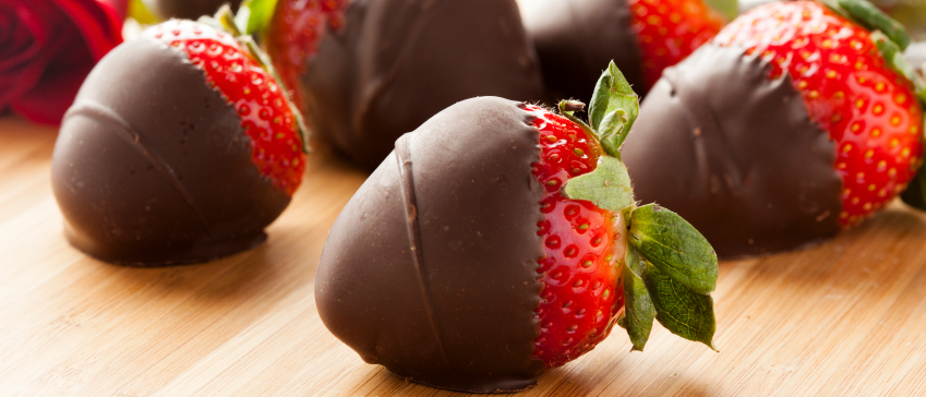 Raw Strawberry Covered Chocolate