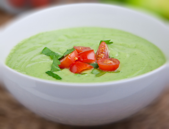 raw avocado cucumber soup